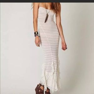 NWT Free People Hills Are Alive Striped  Lace Maxi